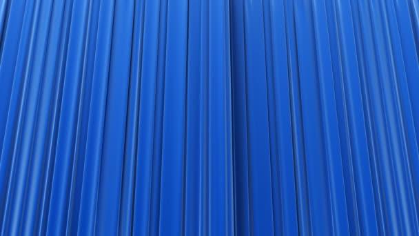 detailreiche 3D-Animation des blauen Vorhangs öffnen und schließen mit Greenscreen Perspektive Ansicht Bottom-up. HD 1080