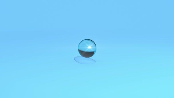 kapka vody dopadající na modrém pozadí a v pomalém pohybu