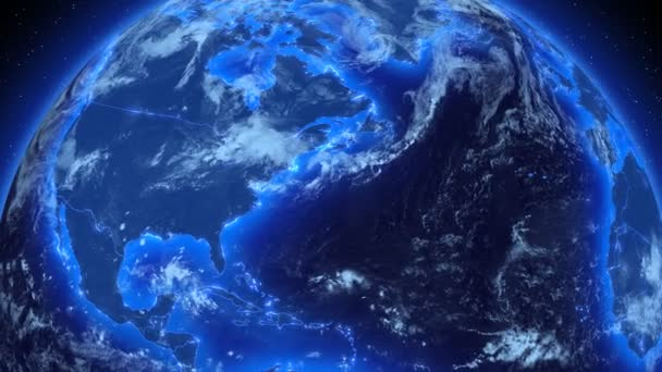 Spinning Earth. Global Business and Broadcast background. HD. Loop.