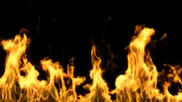 opilý oheň na černém pozadí s alfa maskou v 1080 p hd