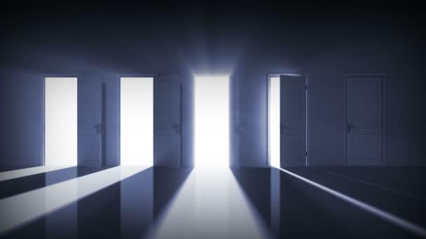 dveře se otevírají. správná volba. Maska alfa. 1080 p HD