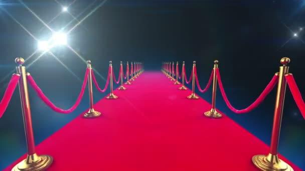 Red carpet událost. smyčky animace chůze dolů a paparazzi blesky