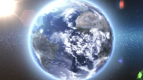 létání od země až ke hvězdám. Magická koule. 1080 p HD