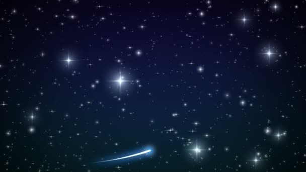 Heart made of twinkling Stars in the Beautiful night sky. HD 1080.