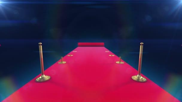 rozvinutí červený koberec animace a paparazzi systémové blesky