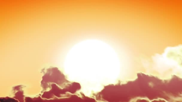 Beautiful Sun and Clouds in Looped animation. HD 1080