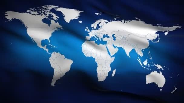 vlajka s mapou světa