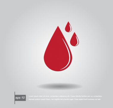 shaped blood drop vector icon