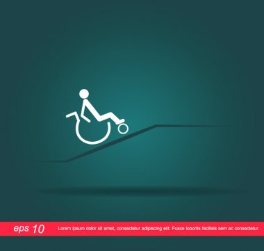 disabled on the way vector icon