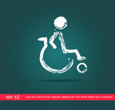 disabled icon of painting vector icon