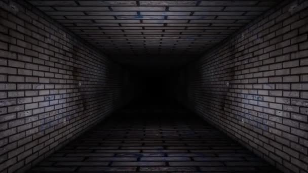Cihlová zeď chodby smyčky video