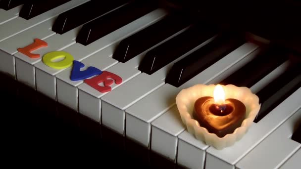 Love on Piano Keys and Candle Light