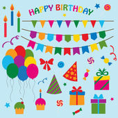 Photo Vector collection of elements for birthday party