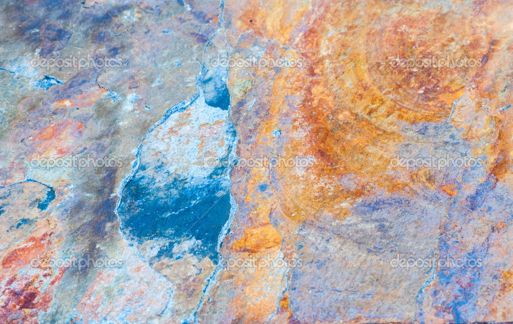 Colorful stone striations