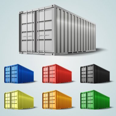 Vector shipping containers stock vector
