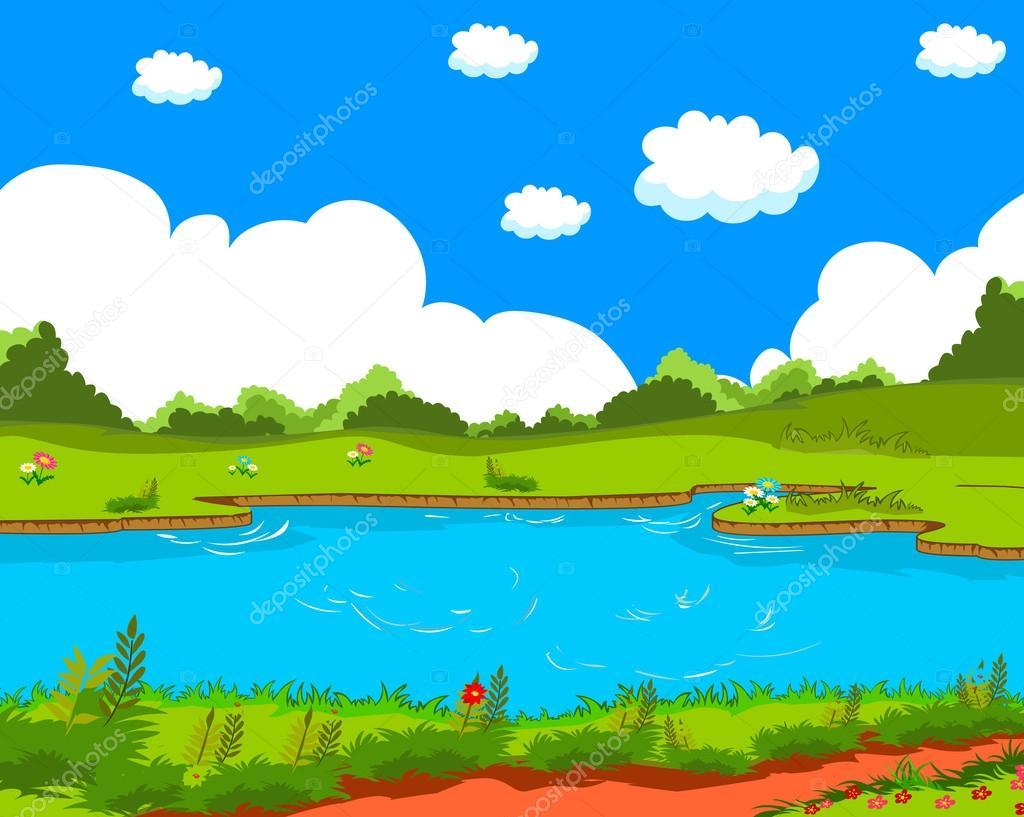 Cartoon Natural Landscape Stock Vector C Ngocdai86 31009827