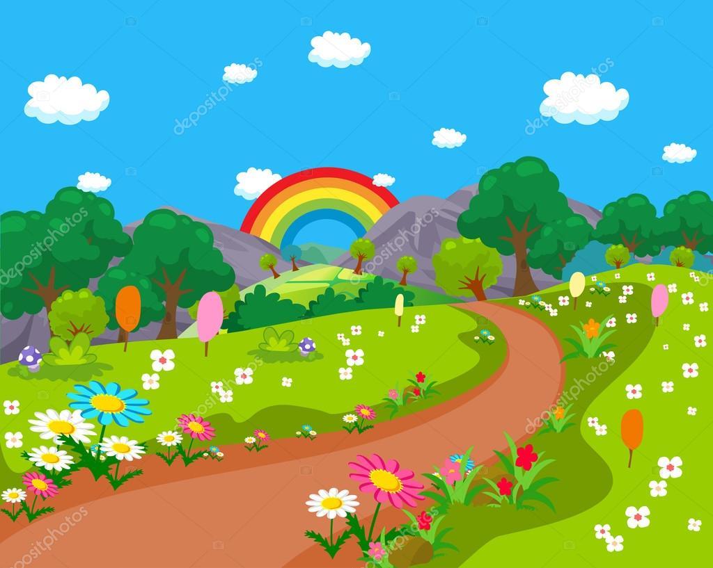 Cartoon Natural Landscape Stock Vector C Ngocdai86 31009833