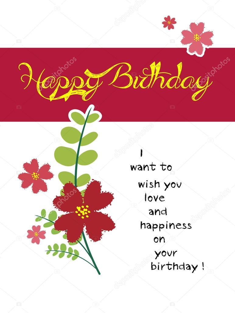 Gelukkige Verjaardag Bloem Stockvector C Ngocdai86 36480397