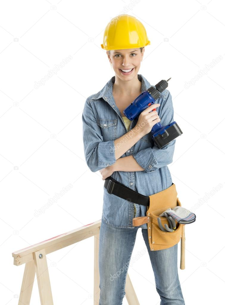 Worker With Dril
