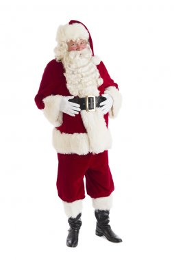 Portrait Of Santa Claus With Hands On Stomach