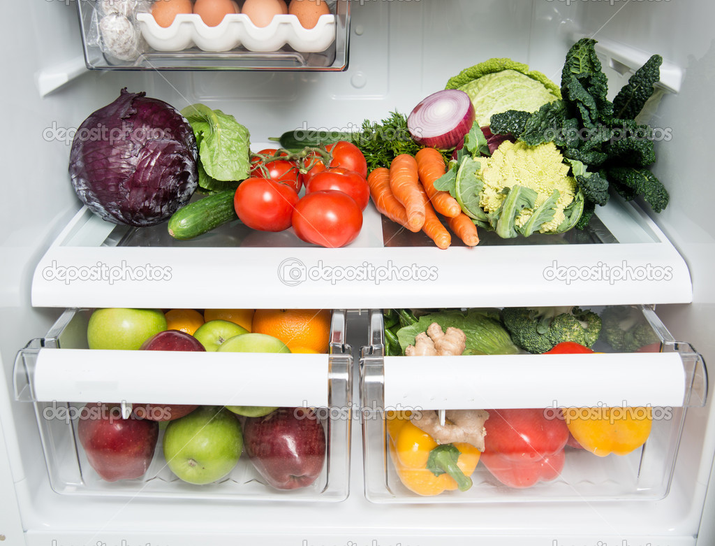Refrigerator Options Refrigerator Full Of Fresh Fruits Vegetables And Healthy Meat