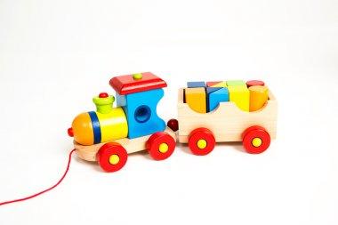 Little Wooden Train as Christmas Present