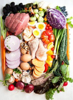 Assortment of Various Healthy Foods.