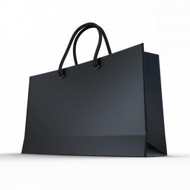 Black glaze paper shopping bag
