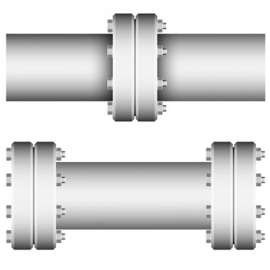 Element with straight pipe flanges