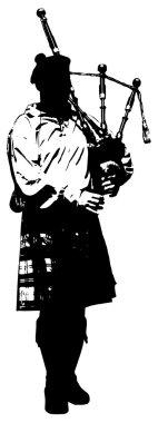 illustration of bagpiper