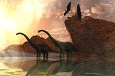 Fotografie Dinosaurier-Morgenröte