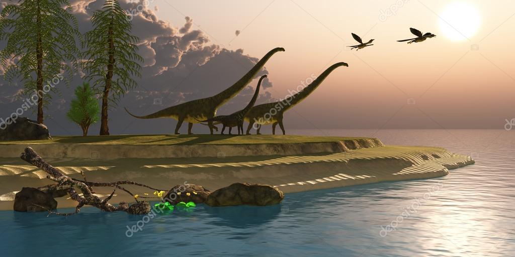 Mamenchisaurus Dinosaur Morning