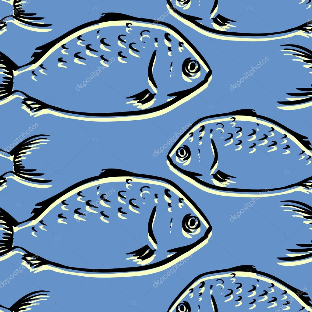 Seamless pattern from fishes