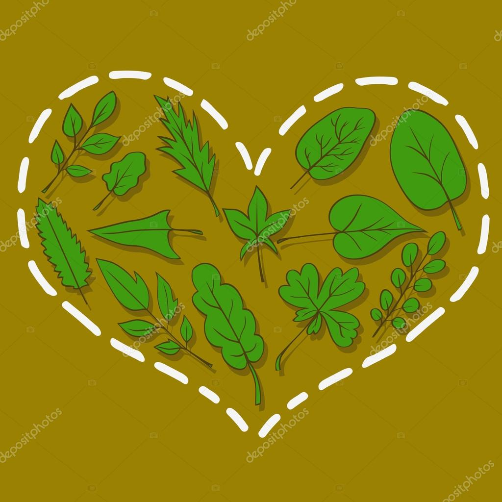 Heart from leaves
