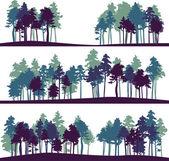 nastavit různé krajiny s borovicemi