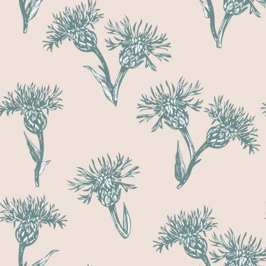 vintage vector seamless floral pattern