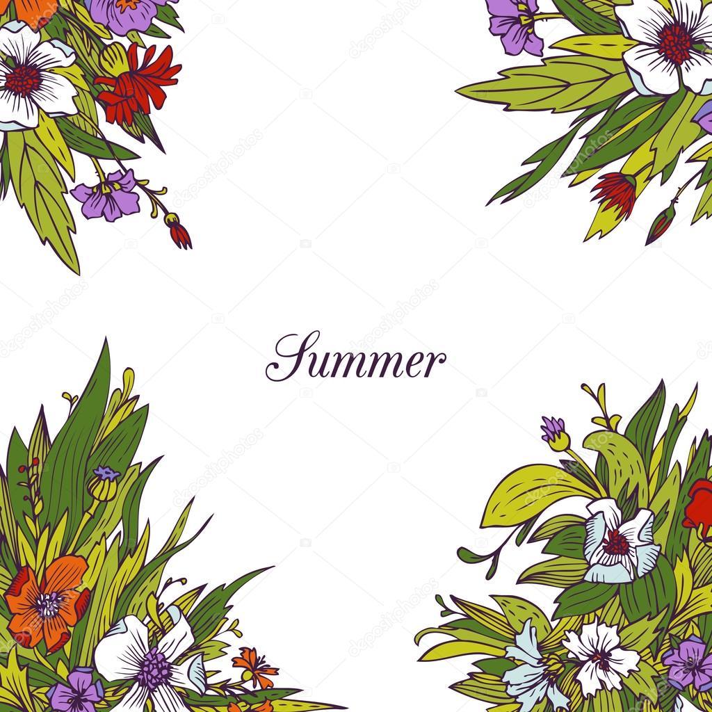 Rahmen mit Blumen — Stockvektor © cat_arch_angel #50246145