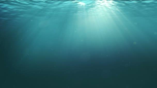 fotorealisztikus víz alatti jelenetet sunrays besütött a víz felszínén
