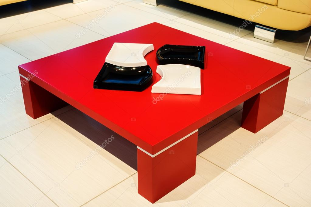 Red square coffee table stock photo photollurg2 35169309 for Red modern coffee table
