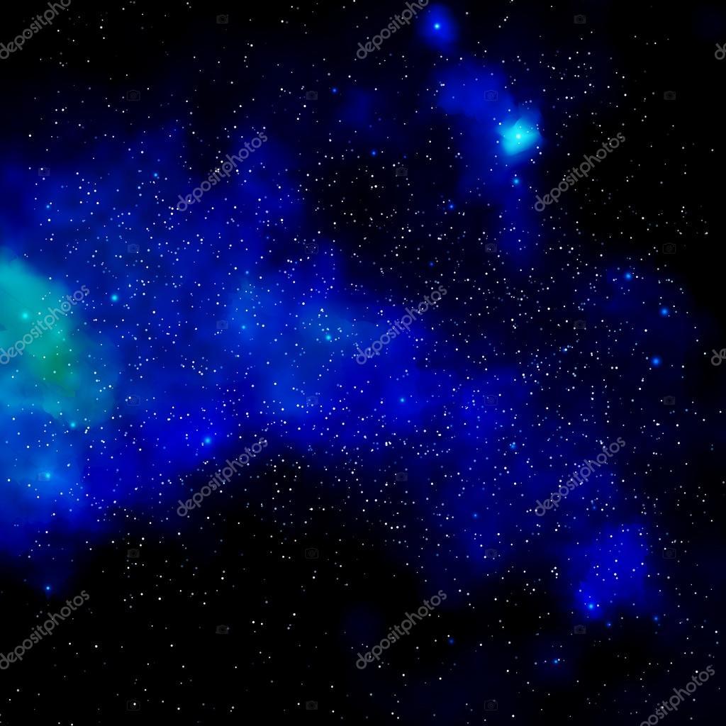 Milky Way in night sky. Vector illustration