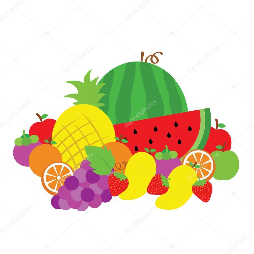 Dibujos Animados De Vector De Fruta Archivo Im 225 Genes