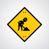 Sign under construction