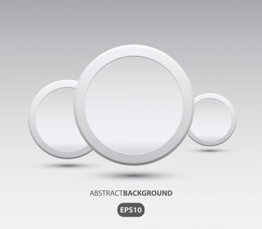 Vector abstract background with circle plastic buttons