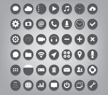 Set of App icons for smartphones and tablets