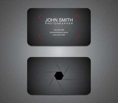 Modern photographer business card template