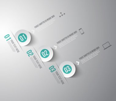 Modern infographic template for step presentation