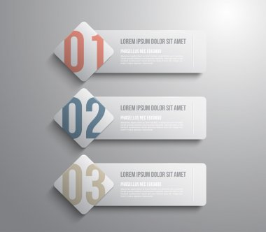 Three banners template