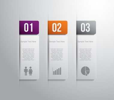 Banners with glossy plastic circle button for business design