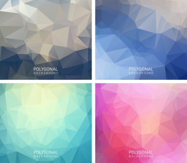 Abstract polygonal backgrounds.