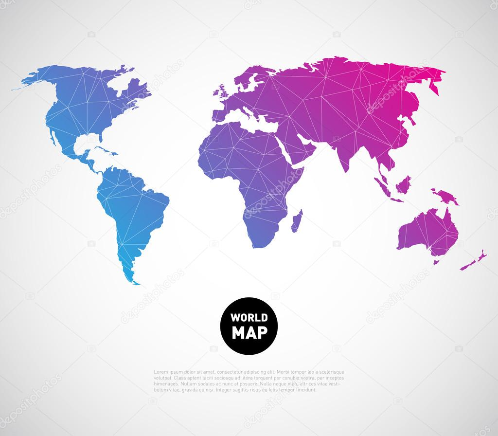 World map background with polygonal triangle stock vector mauro abstract world map background with polygonal triangle style design vector by mauro fabbro gumiabroncs